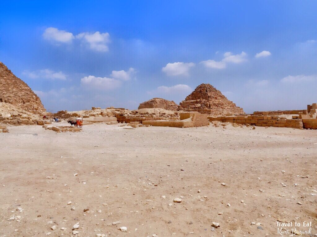 Queen's Pyramids and Eastern Cemetery at the Great Pyramid of Khufu (Cheops). Giza Plateau Egypt