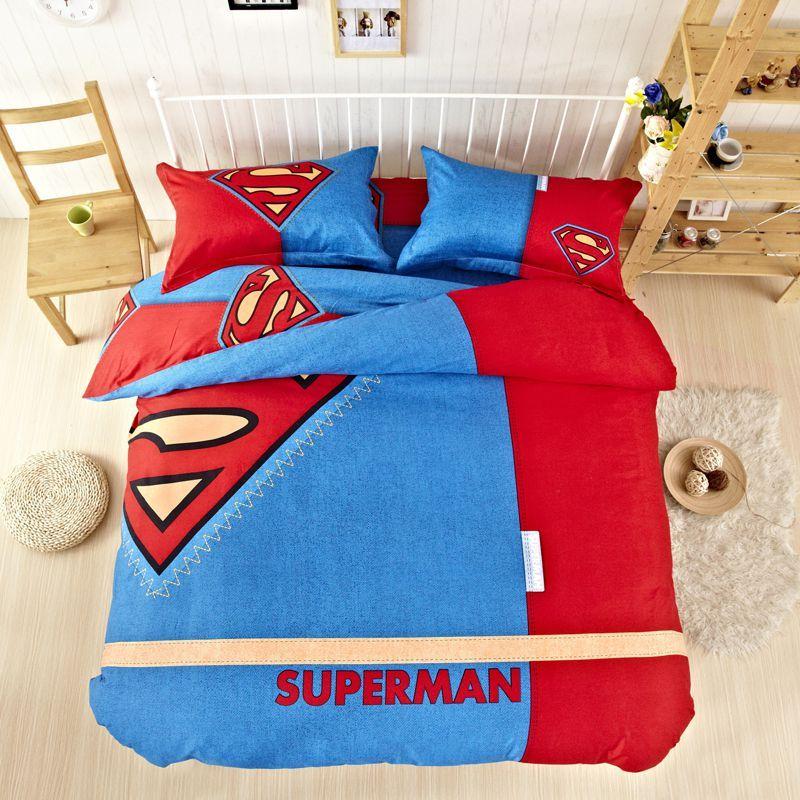 Super Man Bedding Set Twin Queen King Size Mens Bedding Sets