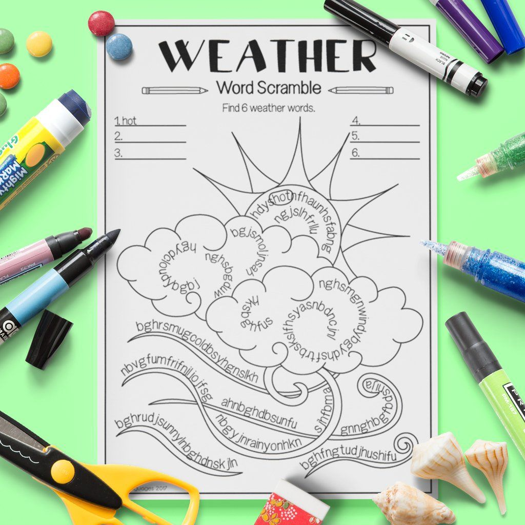 Weather Word Scramble