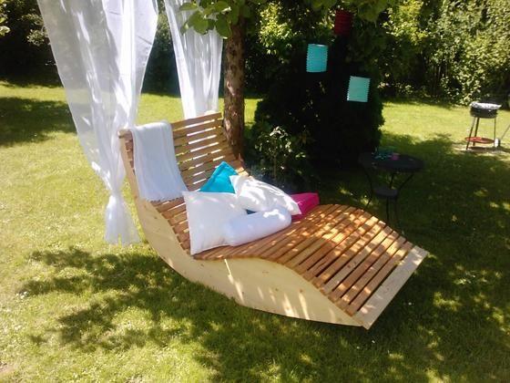 relax liege xxl f r 2 personen bauanleitung zum selber bauen selber machen altholz garden. Black Bedroom Furniture Sets. Home Design Ideas