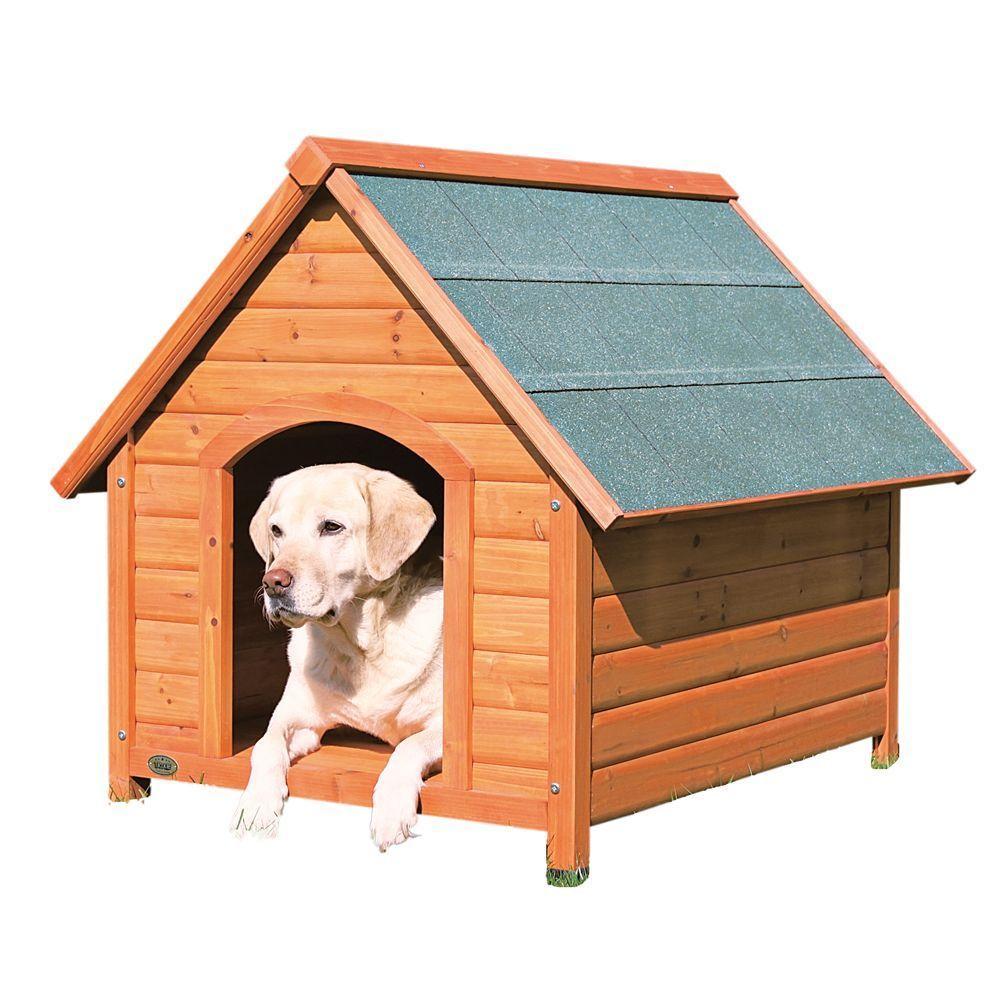 Trixie S Log Cabin Dog House Size 32 5 L X 75 W X 34 25 H Tan