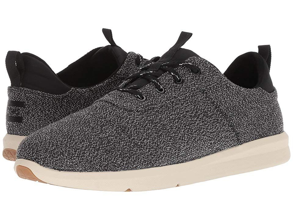 TOMS Cabrillo Black Terry Cloth Mens Lace up casual Shoes With every pair of shoes you purchase TOMS will give a new pair of shoes to a child in need One for One The TOMS...