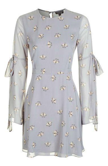 c8f42482bbd1 Main Image - Topshop Moth Print Skater Dress | 2017 Spring | Dresses ...