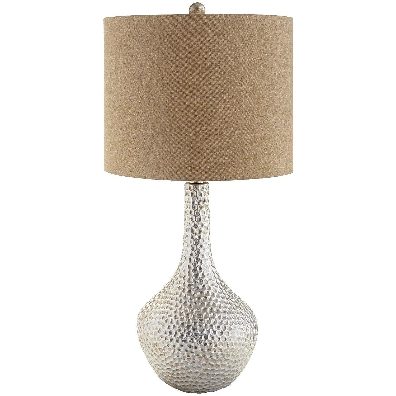 Tan Honeycomb Table Lamp