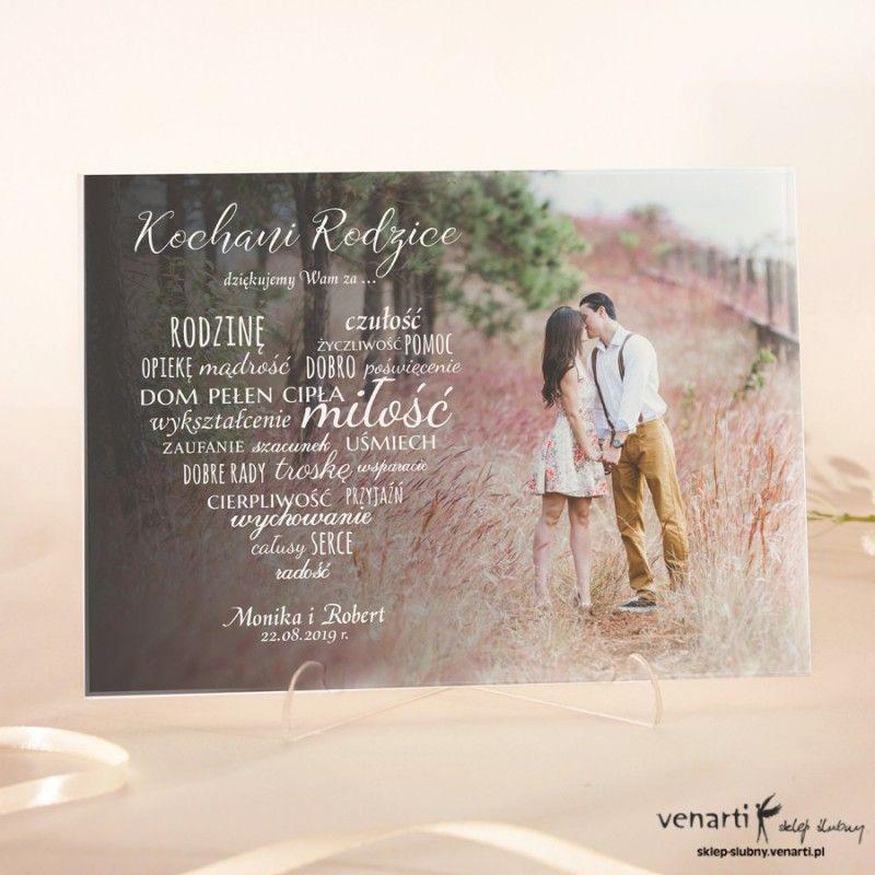 Szklane Podziekowania Dla Rodzicow Z Waszym Zdjeciem 2407 Sklep Slubny Venarti Wedding Book Cover Photography