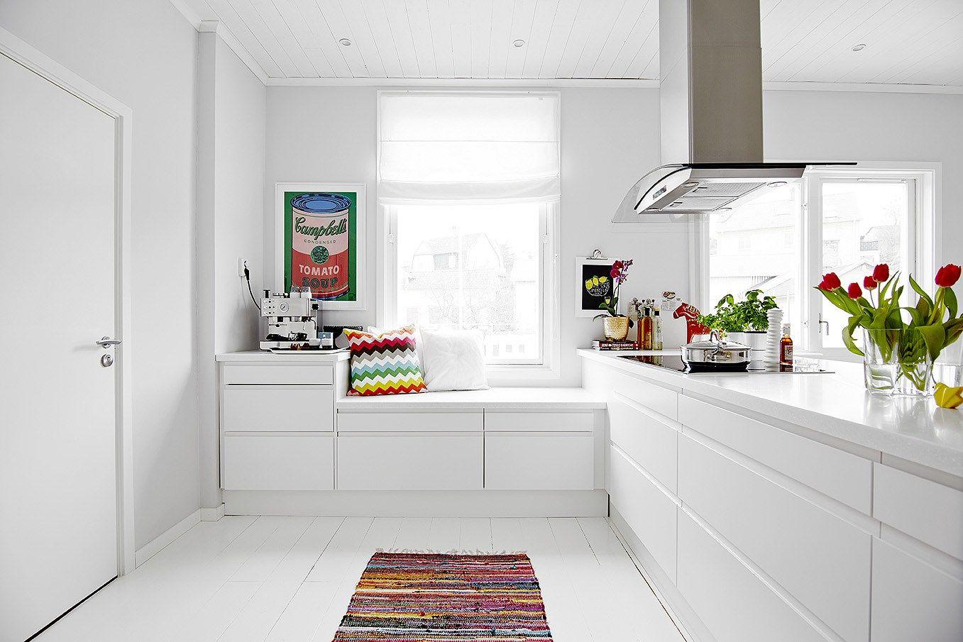 La cocina es lo importante cocina n rdica con pen nsula Disenos de cocinas integrales blancas