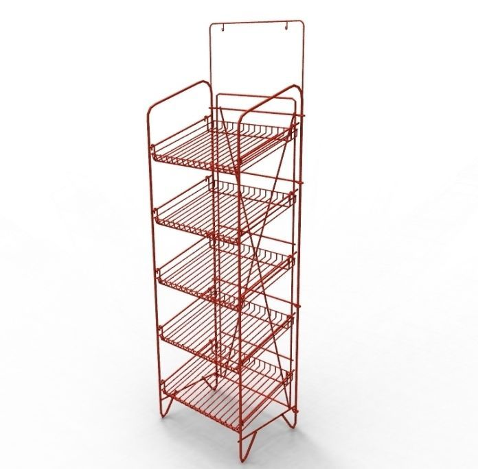 This Red Wire Rack Is Perfect To Display Your Boxes Shoes Jars Of Any Content Beverages Beers And General Merchan Beer Tshirts Wire Rack Shelving Display