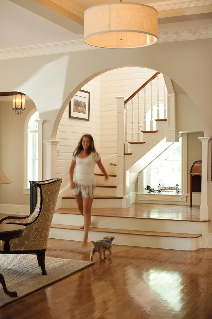 Two Steps Up To A Mini Room Then The Rest Of The Staircase Proceeds Dream Home Design Home Interior Design House Design