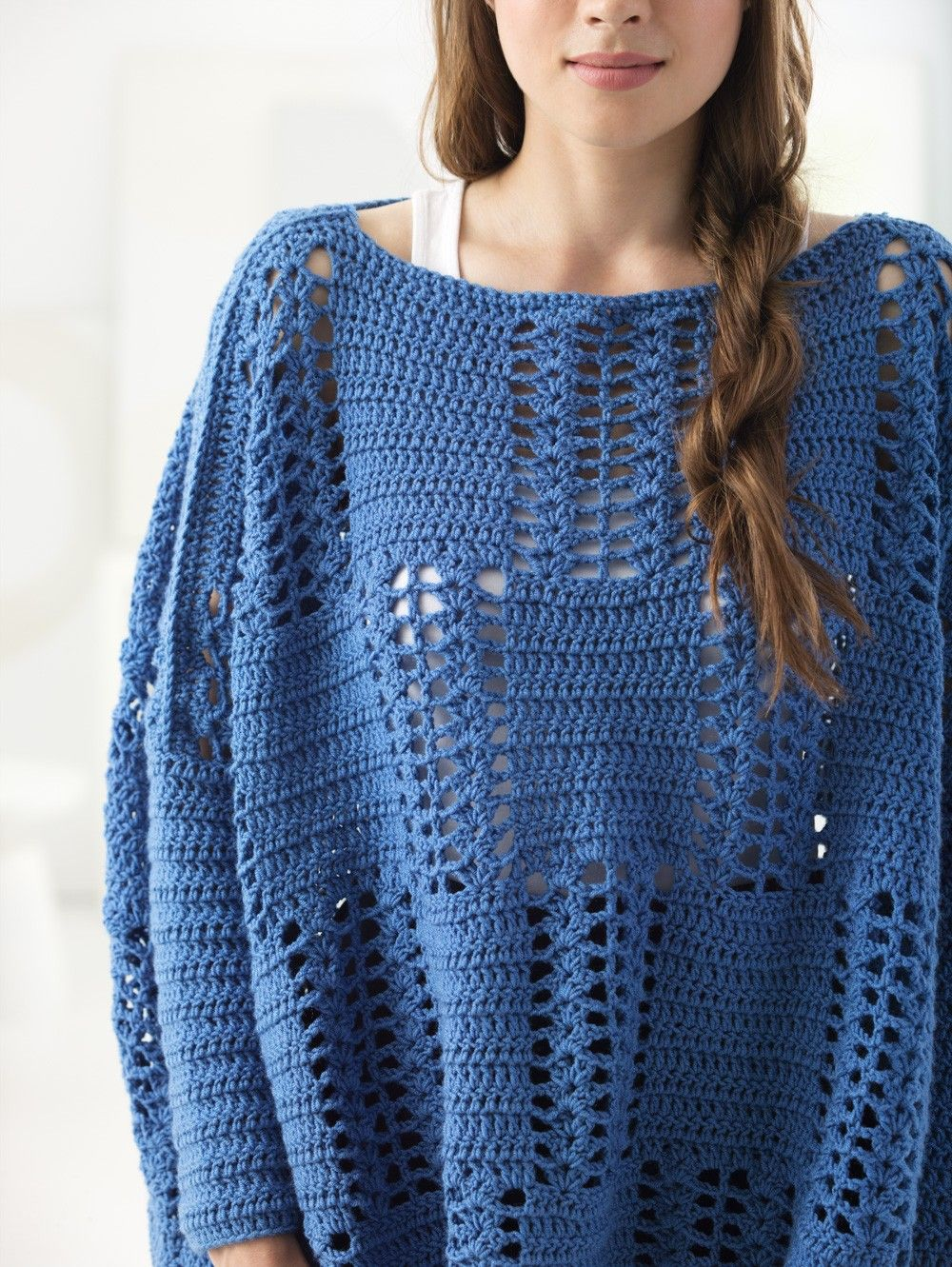 Gulf Coast Pullover (Crochet) | Lion Brand Yarns | Pinterest ...