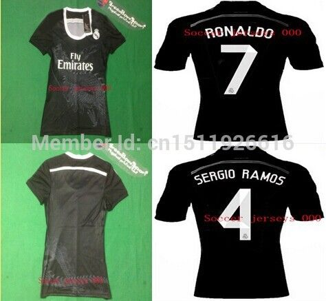 Find More Sports Jerseys Information About 2014 Hot Cristiano Ronaldo Real Madrid Girl Jersey James Women Real Madrid Bla Real Madrid Shirt Ronaldo Madrid Girl