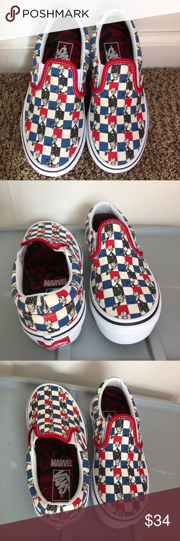 Vans x Marvel Slip On Groot Skate Shoes  Zumiez