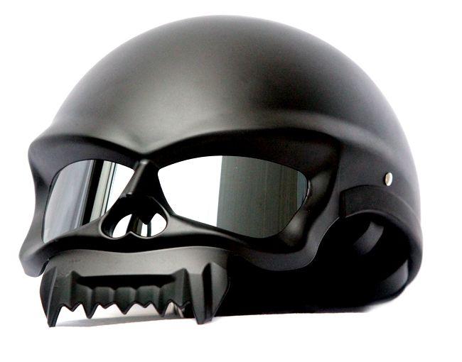 MASEI MATT BLACK SKULL 429 MOTORCYCLE CHOPPER DOT HELMET FOR Facebook Members & Friends | Masei Helmets Online Store
