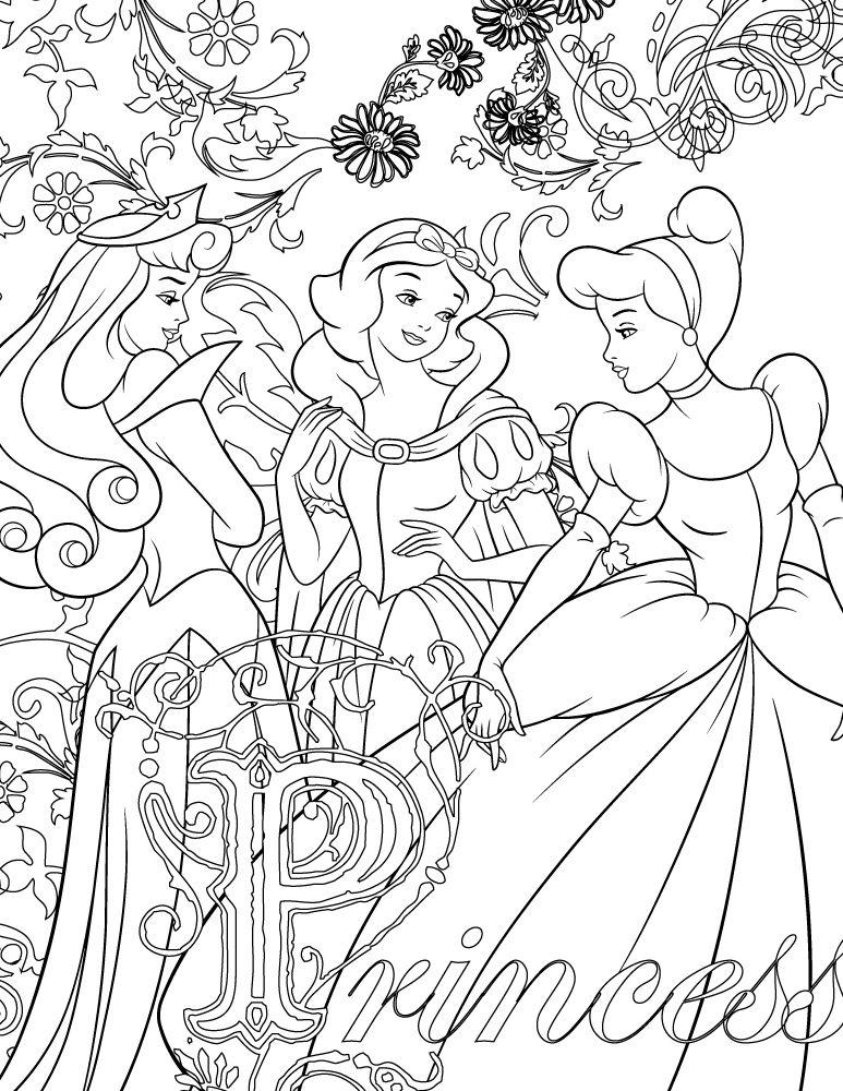 coloriage disney de princesse imprimer