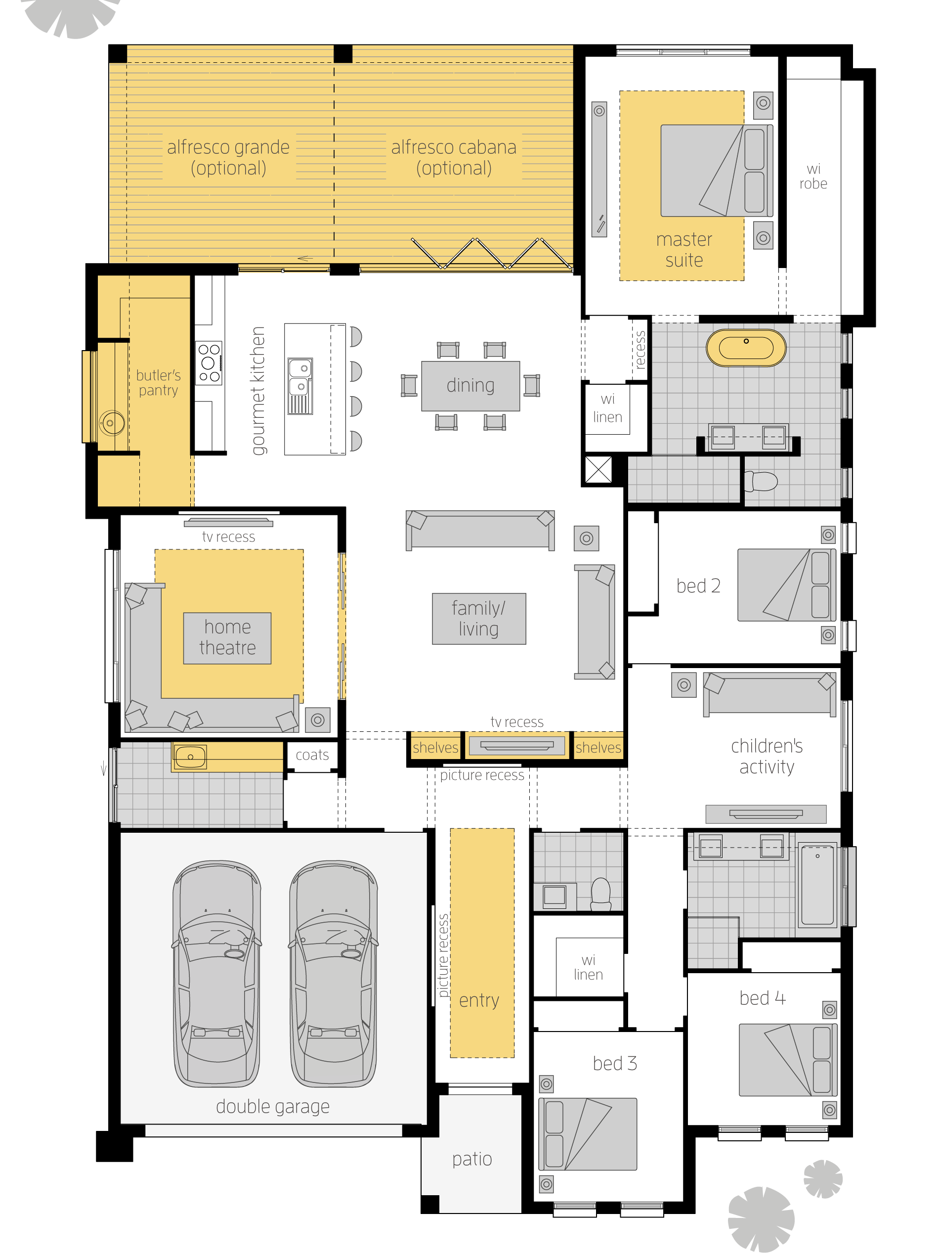 Aristocrat Executive Upgrades Floor Plan Make The Most Of Indoor Outdoor Living With The Aristocrat This Uniqu Dream House Plans House Plans New House Plans
