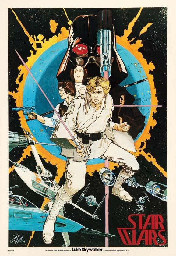 Star War 1977     Chaykin's Pre-production poster     $1.75 (1977)  $3000 (2013)