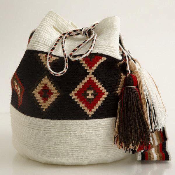 Galería y Patrones: Bases y Cuerpos de Mochilas Wayuu ~ CTejidas [C ...