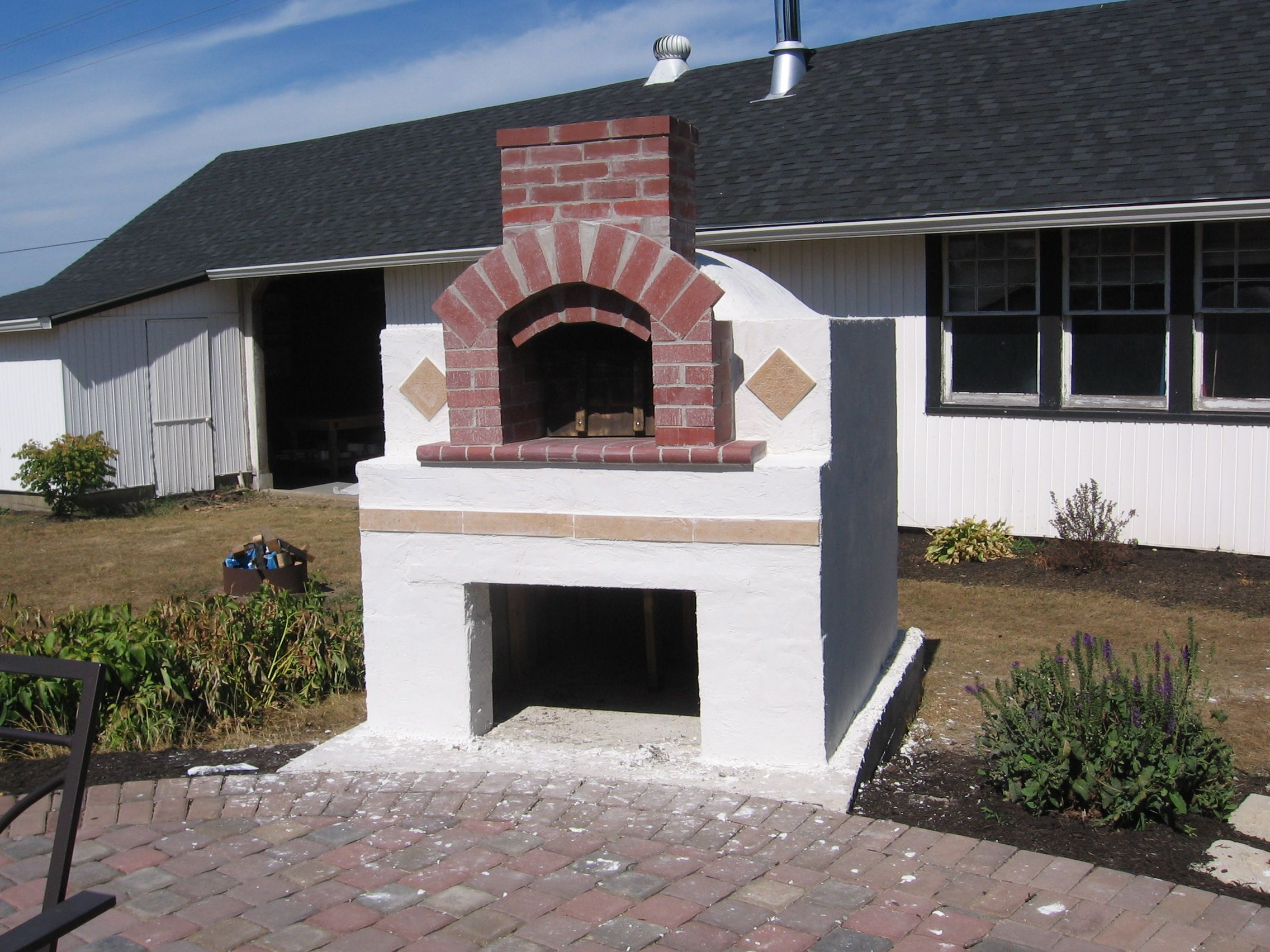 Diy pizza oven finished fire it up diy pizza oven