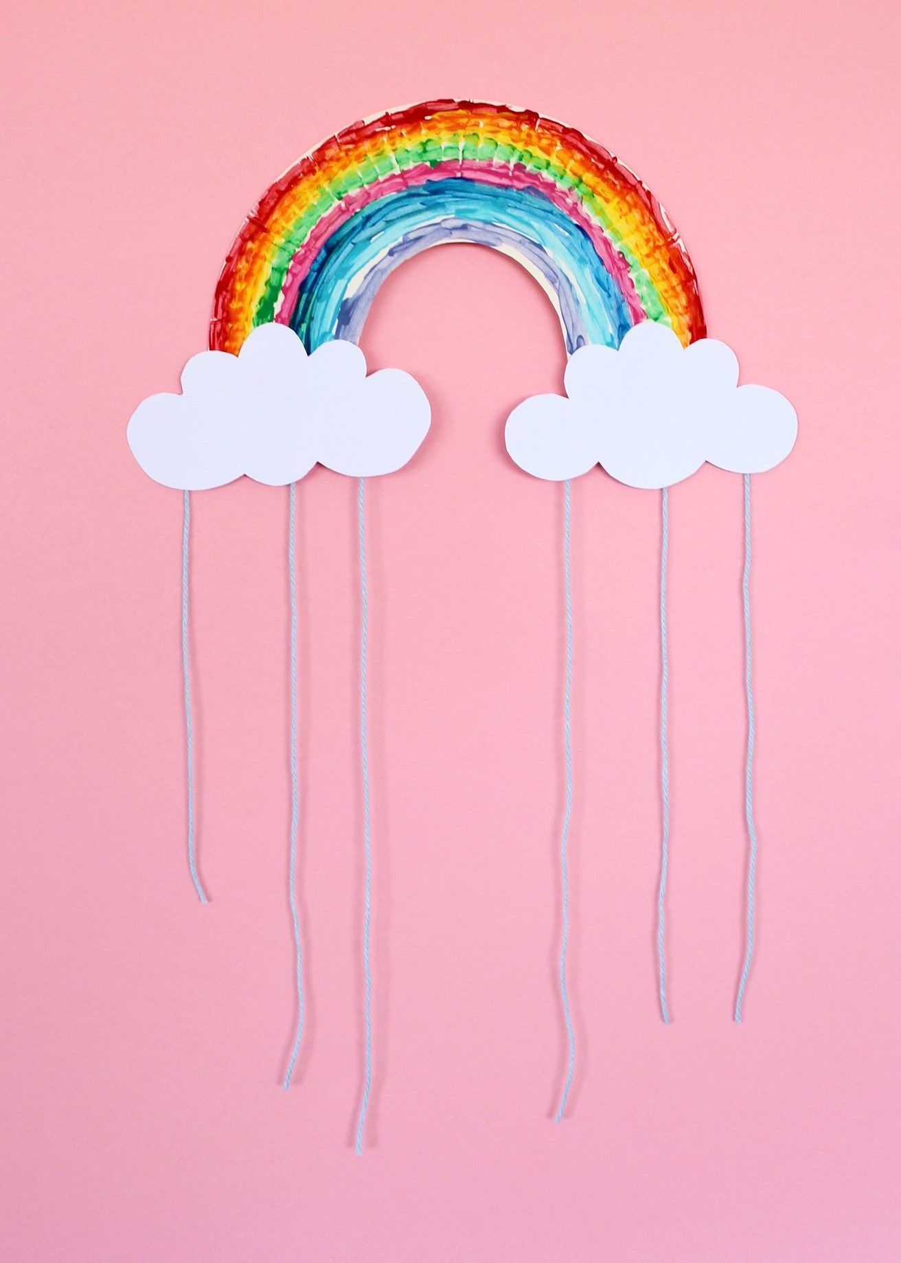 Adorable Rainbow Paper Plate Craft Rainbow Crafts Paper Plate