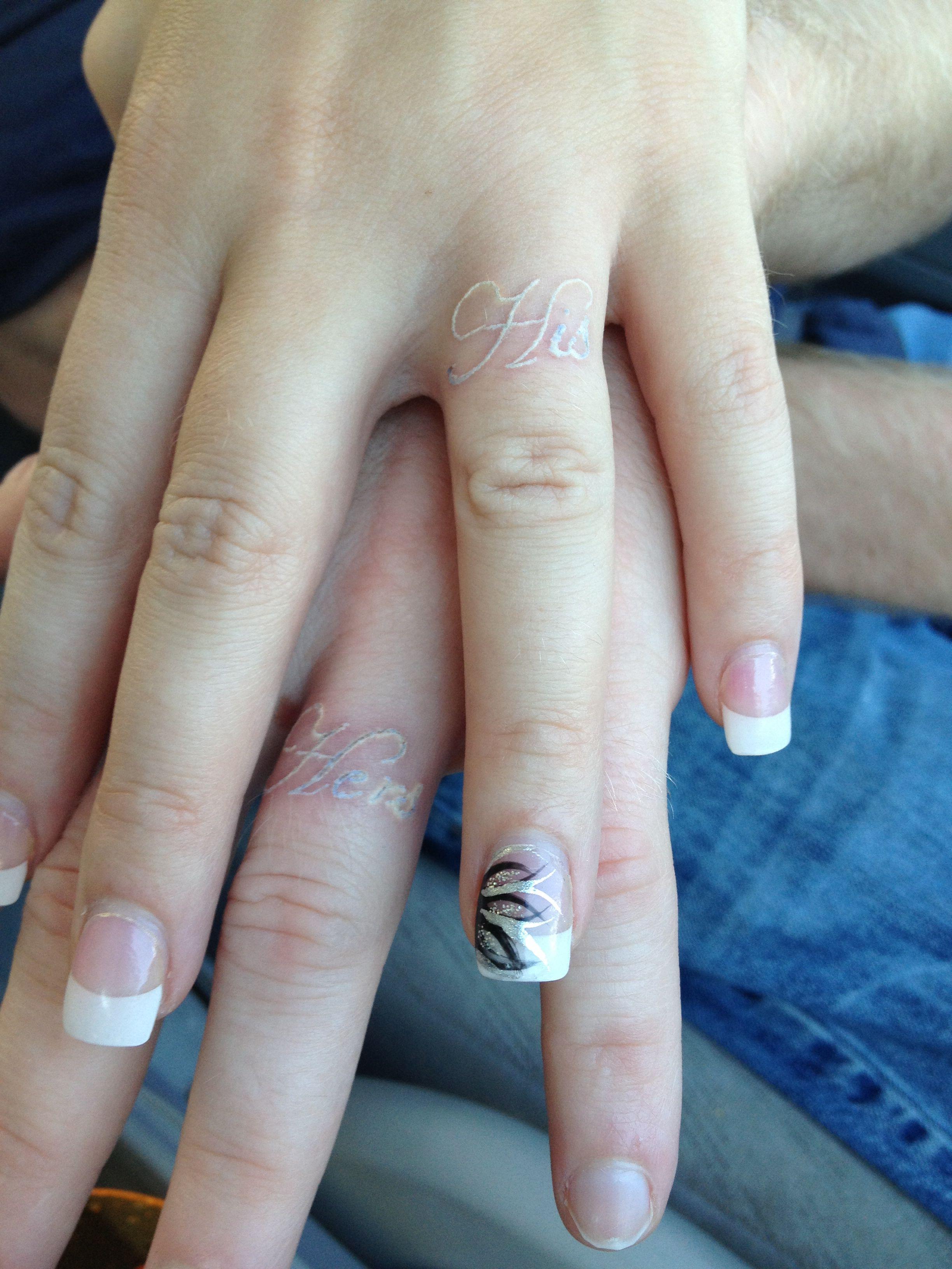 Mr. & Mrs. Tattoos, freshly inked (With images) Wedding