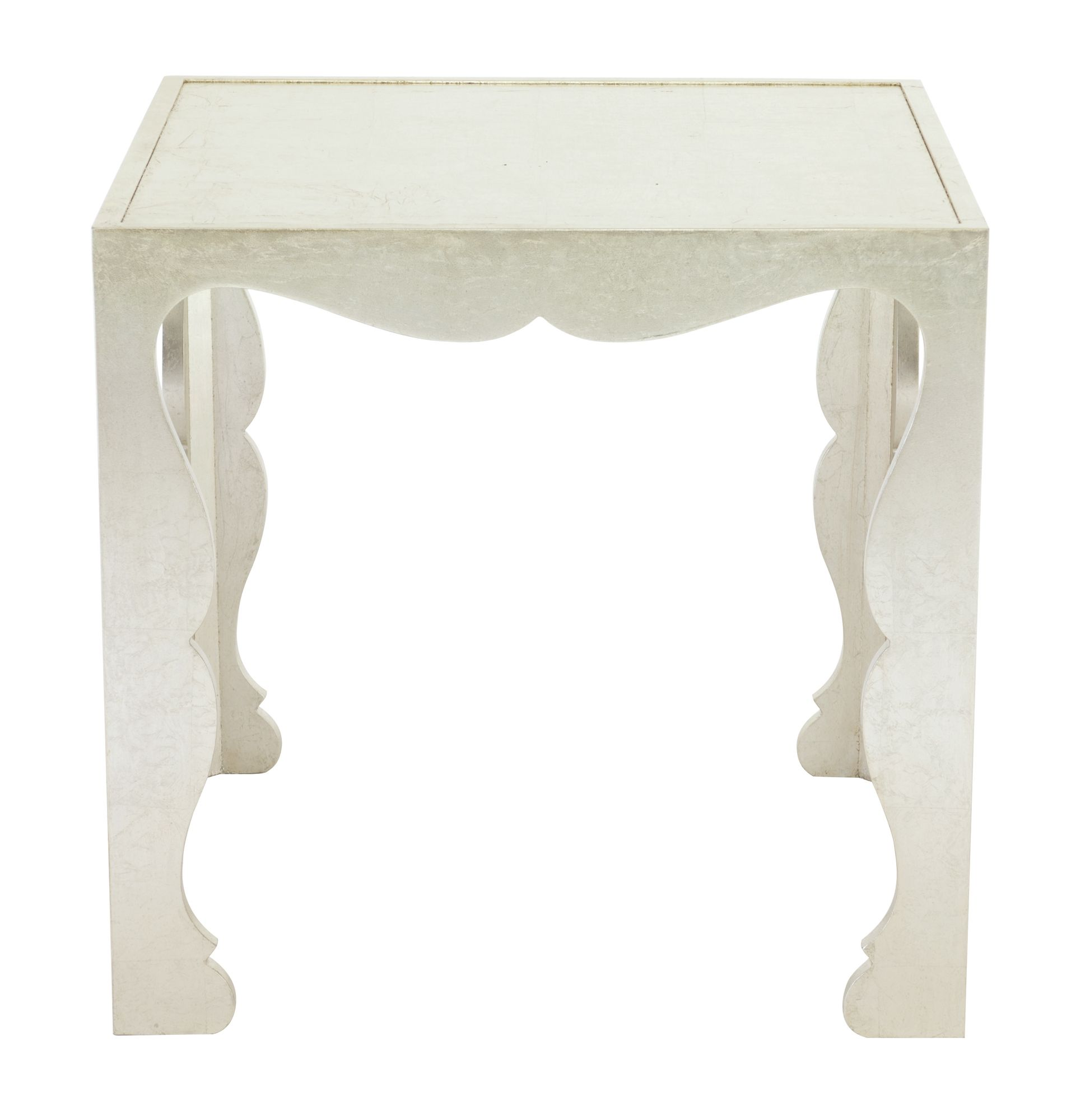 353 154 Savoy End Table Bernhardt W 20 D 26 H 25 Silver Leaf