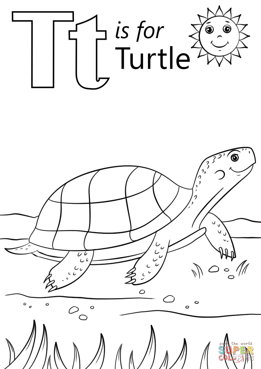 T Is For Turtle Coloring Page Free Printable Coloring Pages Turtle Coloring Pages Kindergarten Coloring Pages Abc Coloring Pages [ 1200 x 849 Pixel ]