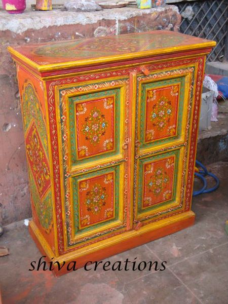 Traditional Hand Painted Cabinet From Jodhpur - Indian Painted Furniture -  Buy Traditional Hand Painted Cabinet From Jodhpur - Indian Painted Furniture  ...