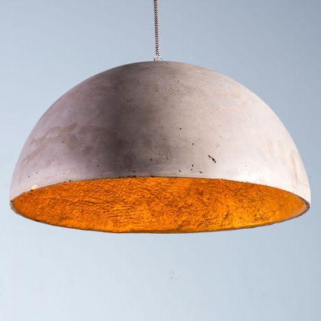 Lámpara Domo  de Concreto l Dale un estilo único a tu casa con esta lámpara de concreto.