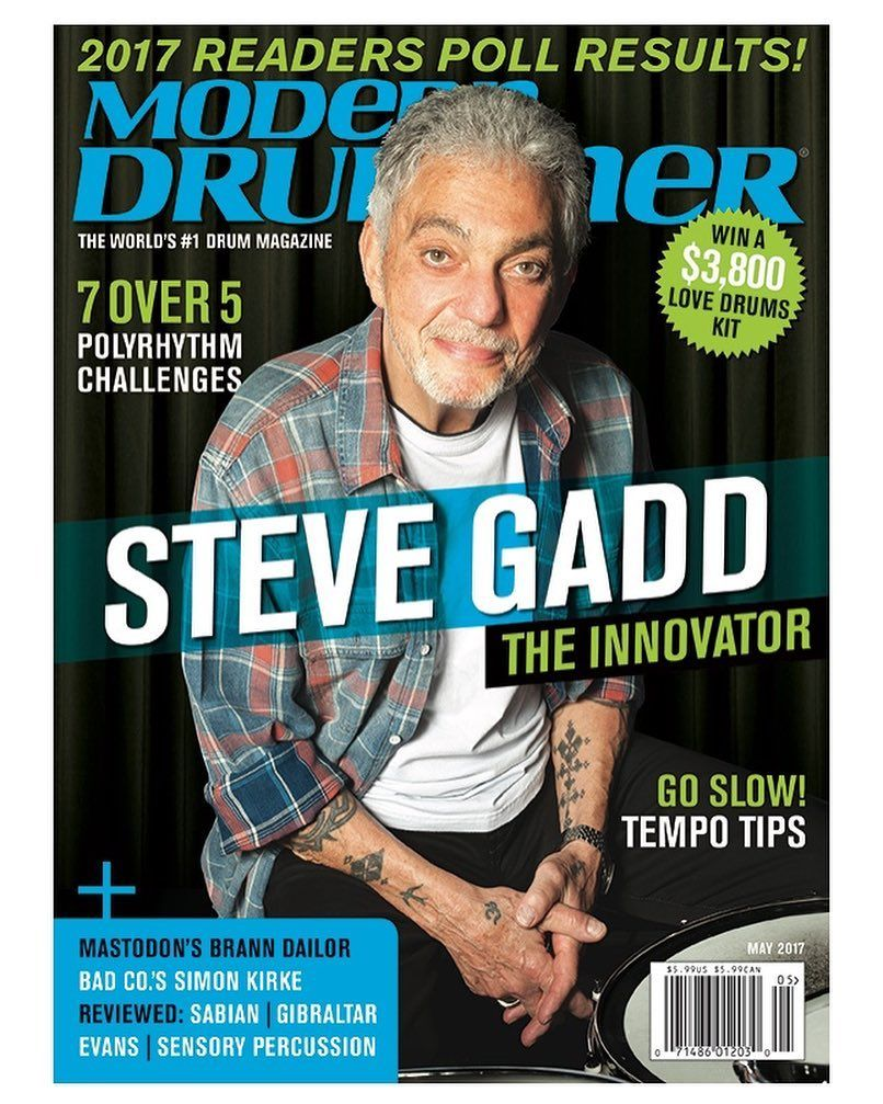 Check Out The Current Issue Of Moderndrummer Magazine Featuring Steve Gadd Out Now The Link To His Story And Much Much More From The Issue Is In Our ドラマー Aクラス