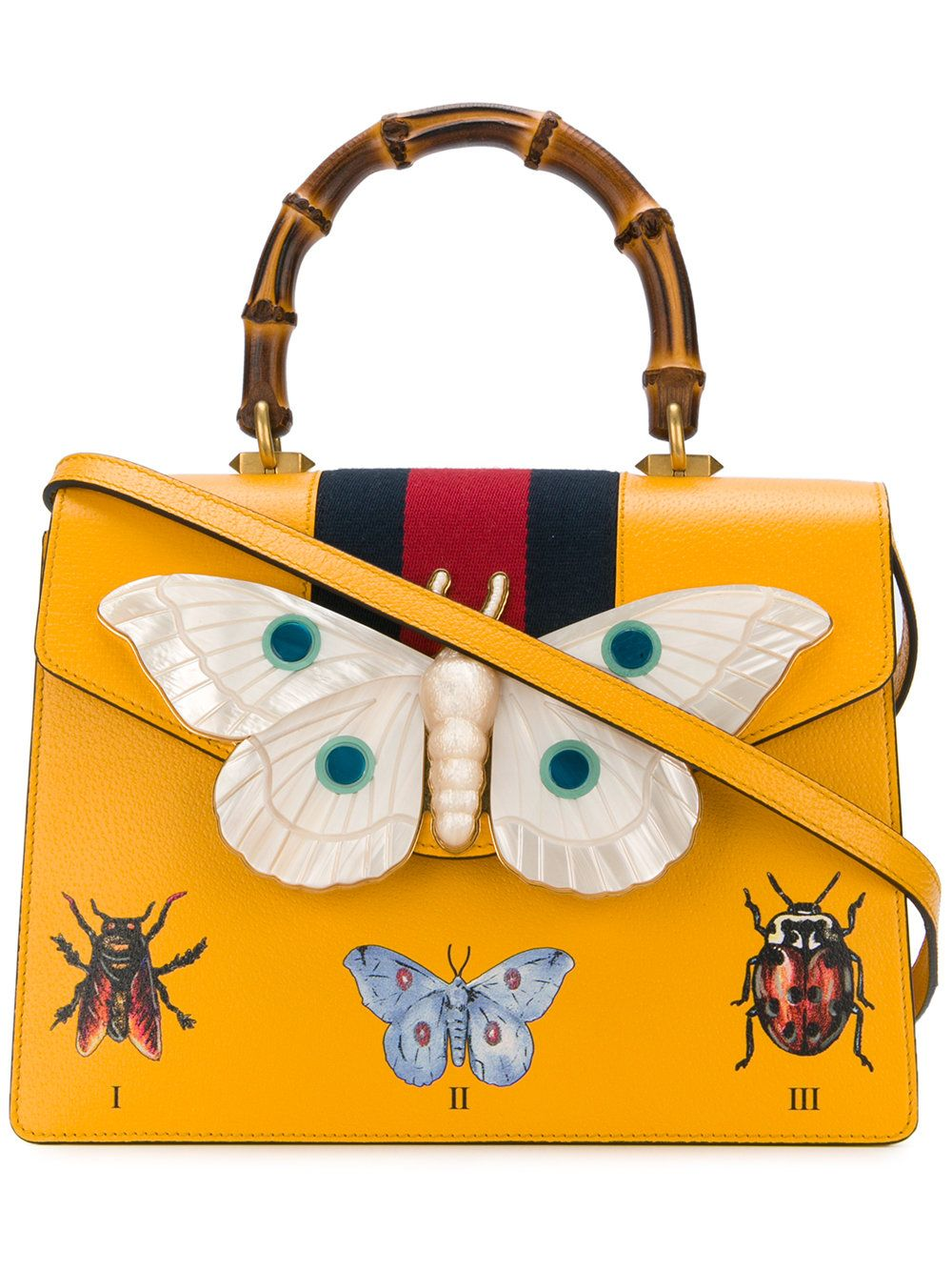 23ea3a1fc Gucci top handle tote bag with moth | Fashion/Style in 2019 | Gucci ...