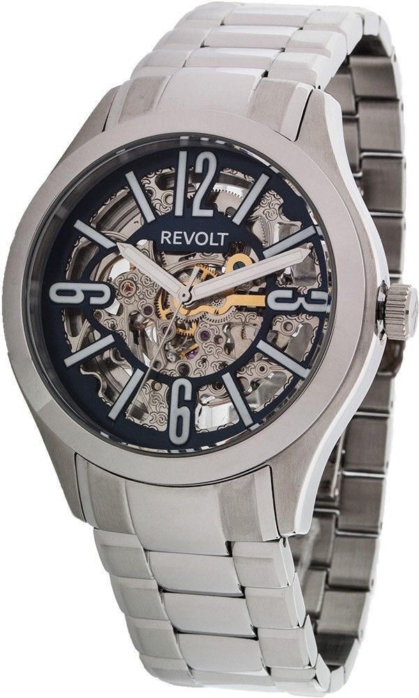 the scenes steel milk angle minus mens of leather blue watches silver stainless design behind watch layer industrial