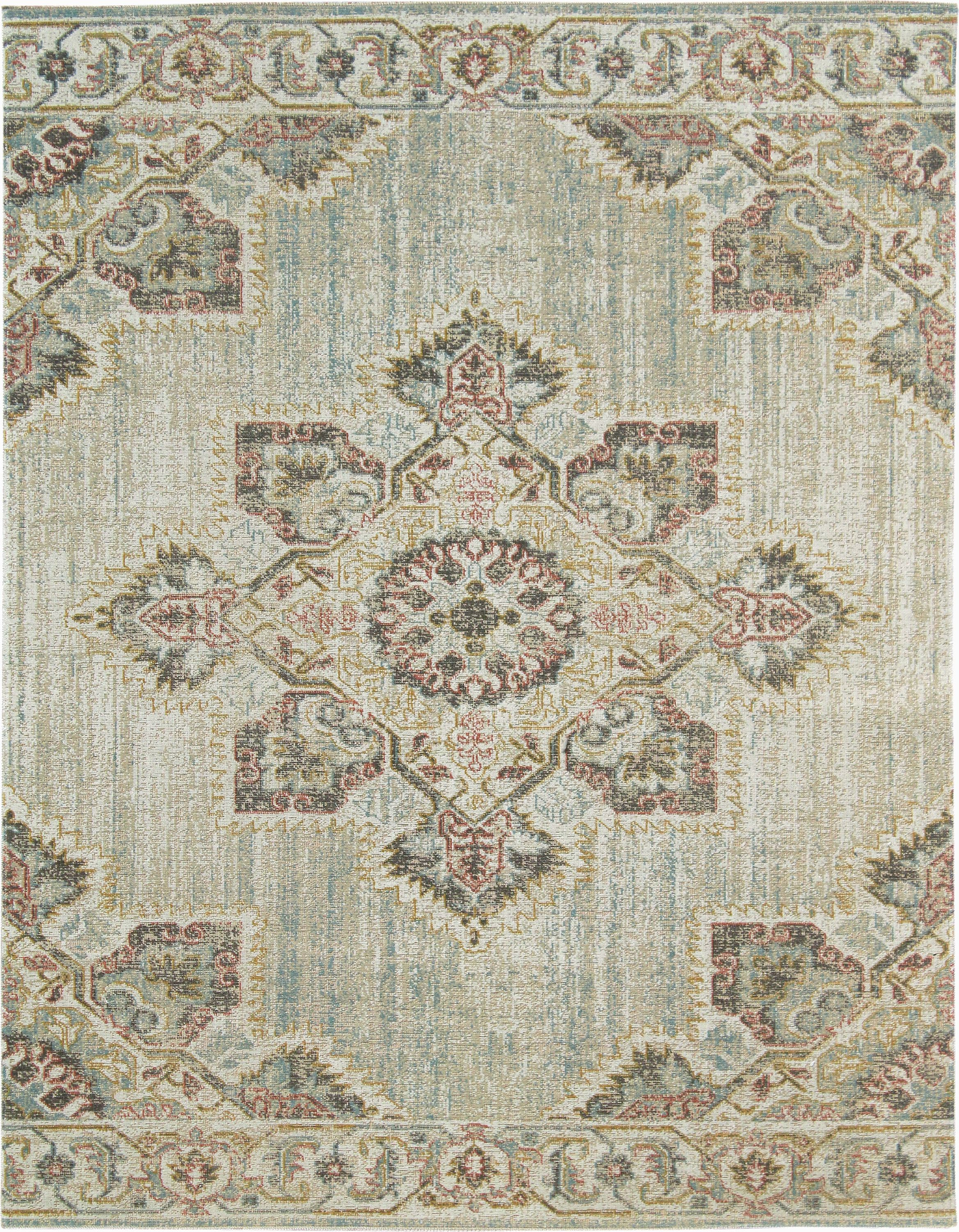 Ete 20 Color Beige Blue Ivory Size 9 10 X 13 10 Amer Rugs