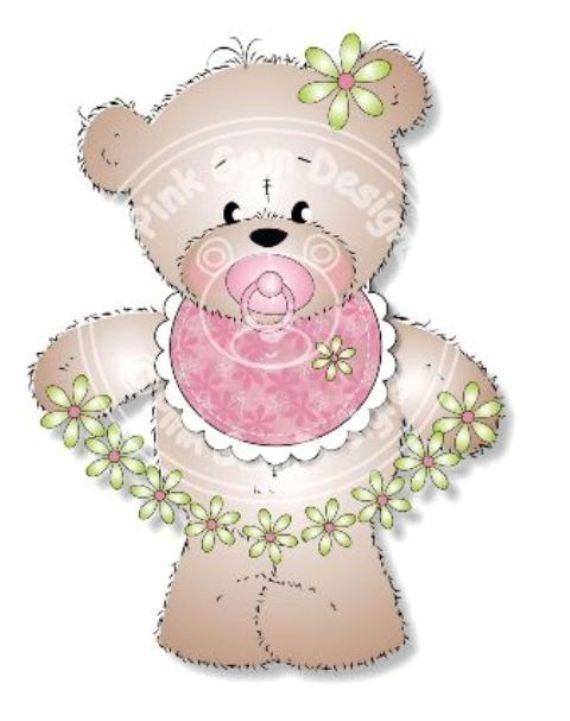 Sello Digital Digi lindo bebé sello 'Baby Girl por PinkGemDesigns
