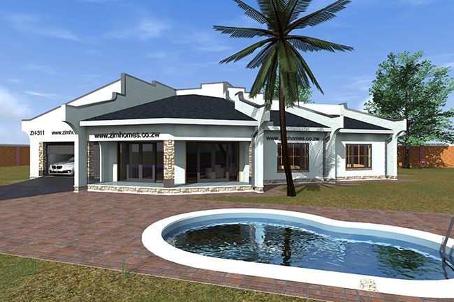 Image Result For 5 Bedroom House Plans Zimbabwe 3d House Plans House Blueprints Dream House Plans