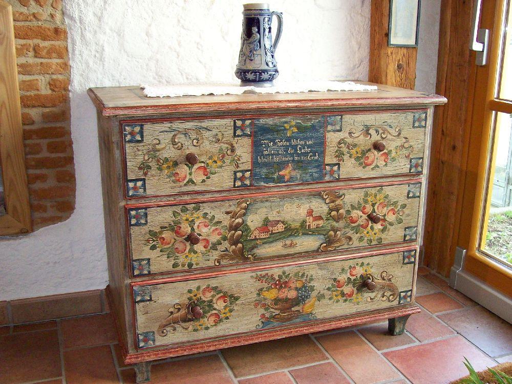 Vintage Bemalte M bel Bauernm bel Albert Traxler