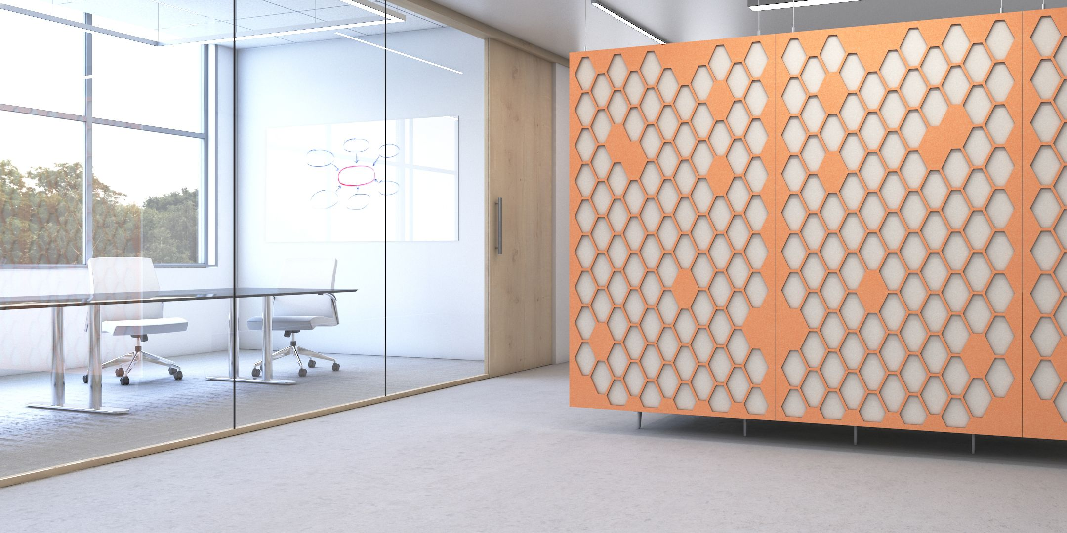 The Ariel Acoustic Panel Collection has an array of design
