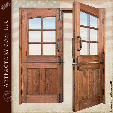 Dutch Double Doors Custom Handmade By Master Craftsmen Exterior