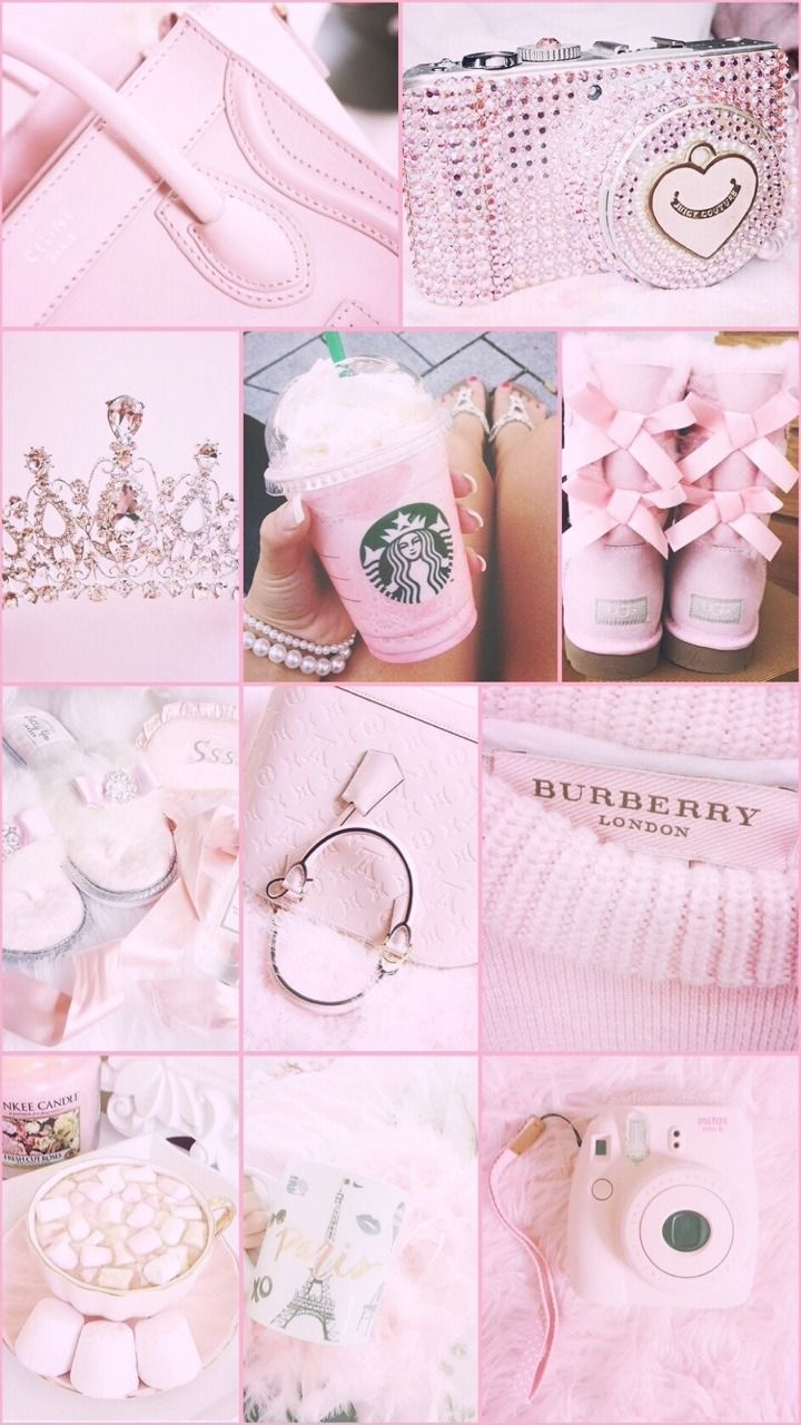 Aesthetic Collage Wallpaper Rose Gold Aesthetic