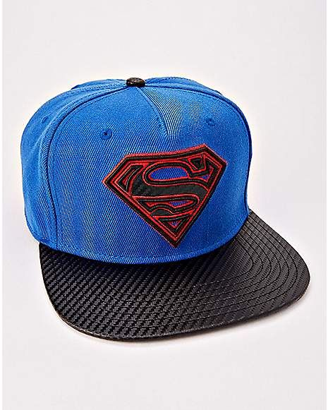 16ded36aeeb9f Superman Snapback Hat - DC Comics - Spencer s