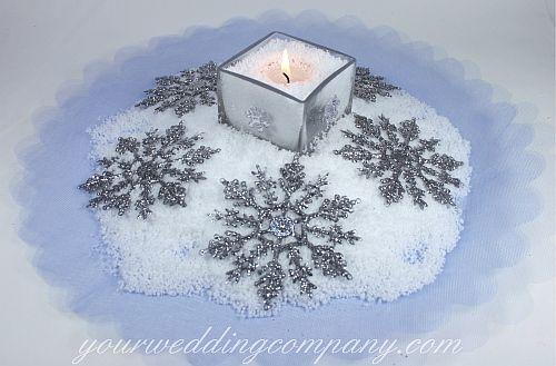 Cute snow center pieces