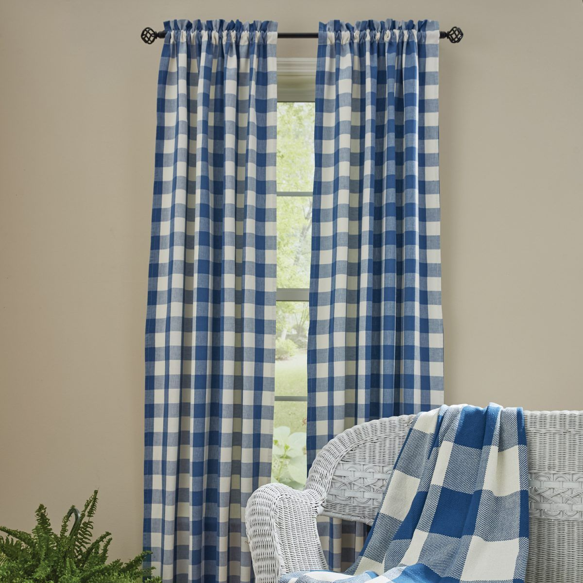 China Blue Curtains Wicklow China Blue Drapes 84