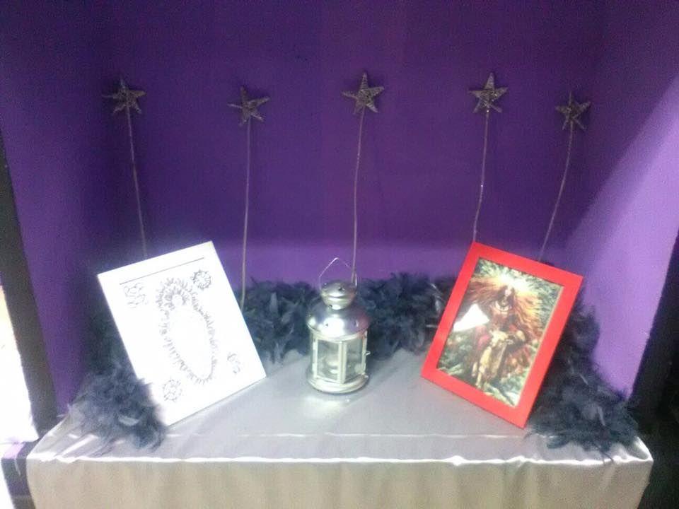 Mini-altar de Yule Septiembre 2016