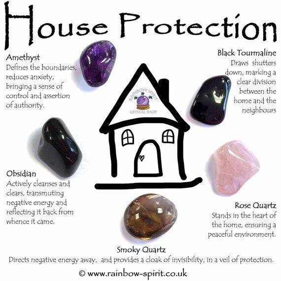 House Home Protection Crystal Set #smokyquartz
