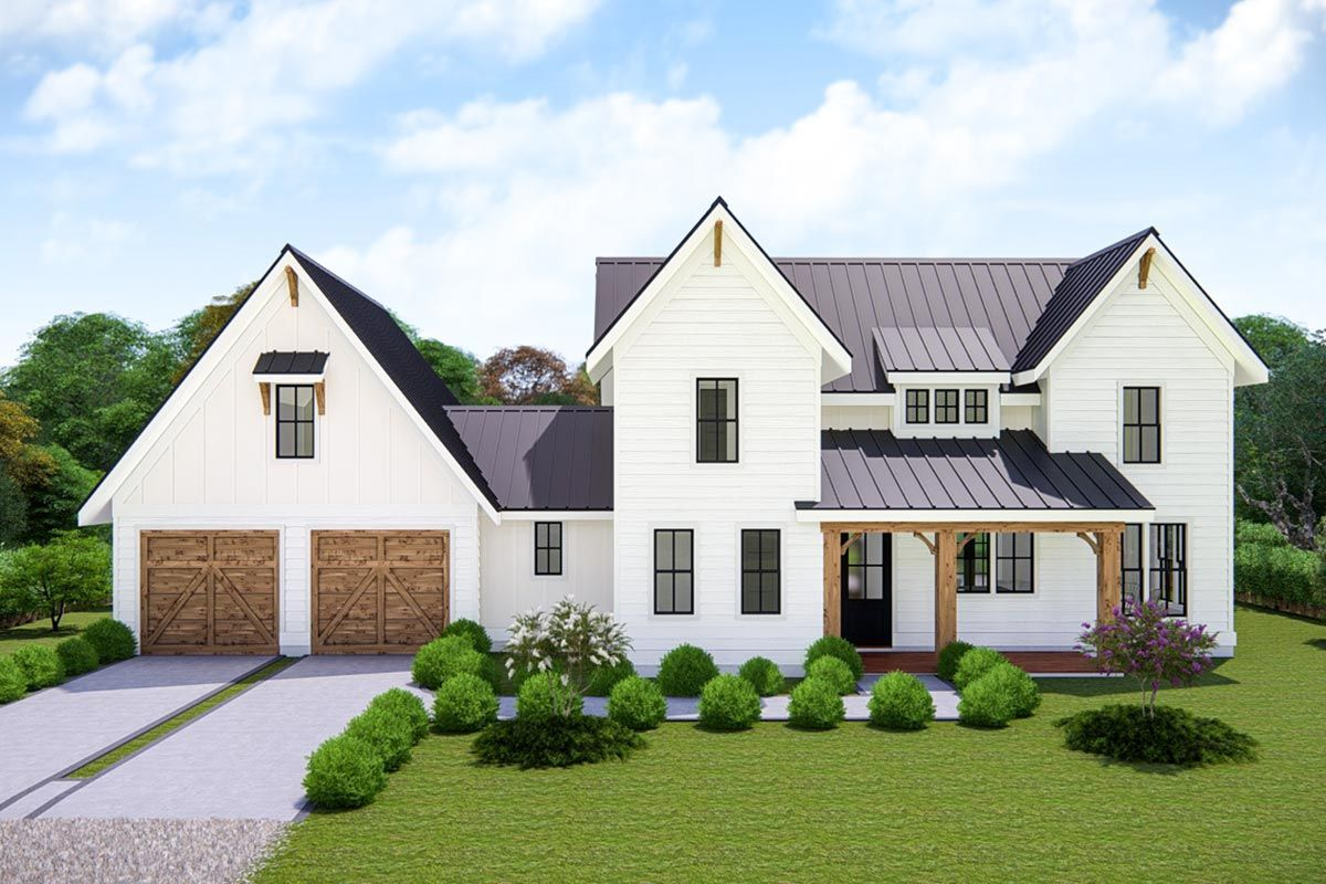 Plan 25411TF: Two-Story Modern Farmhouse with Open Floor ...