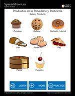 Bakery Items in Spanish (con imágenes) Español, Panadería, Vocabulario