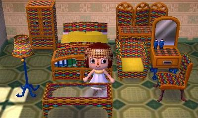 Animal Crossing Custom Cabana Set Rainbow Colorful