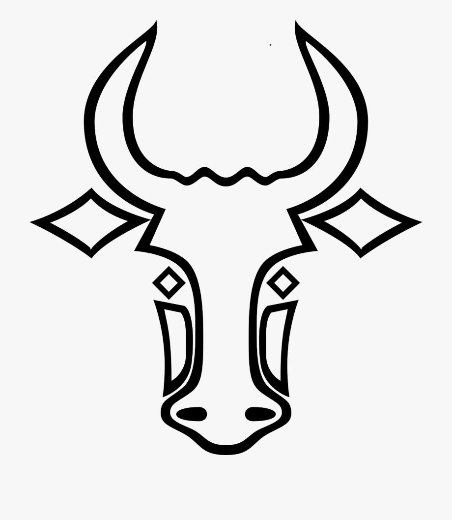 Easy Bull Head Drawing Transparent Easy Cartoon Drawings Drawings Bull