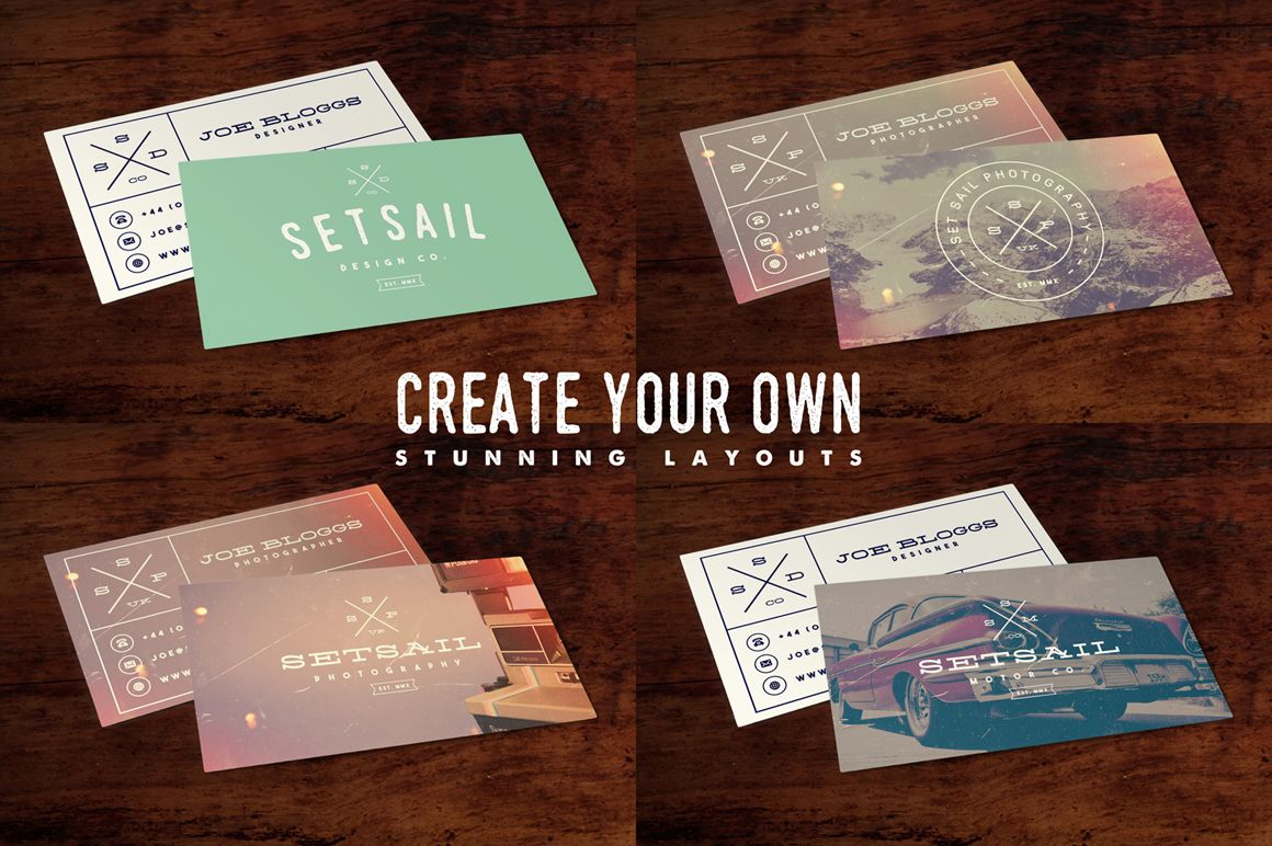 Use Our Vintage Hipster Business Card Template To Create