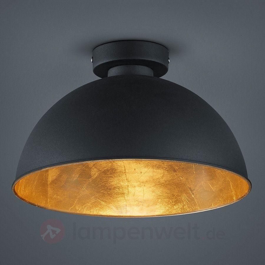schwarz goldene metall deckenleuchte jimmy 8029093. Black Bedroom Furniture Sets. Home Design Ideas