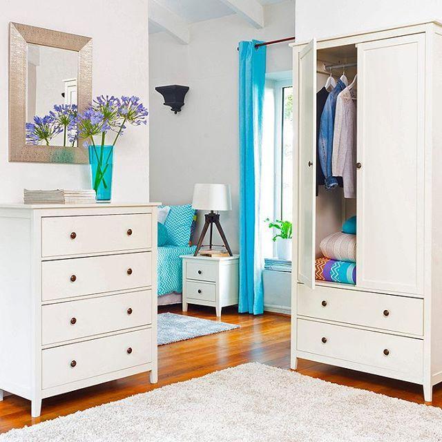 Aparador Madeira E Vidro ~ #mulpix u00a1Mucho orden en tu dormitorio! #Muebles #Decoración #Dormitorio #Sodimac #Homecenter