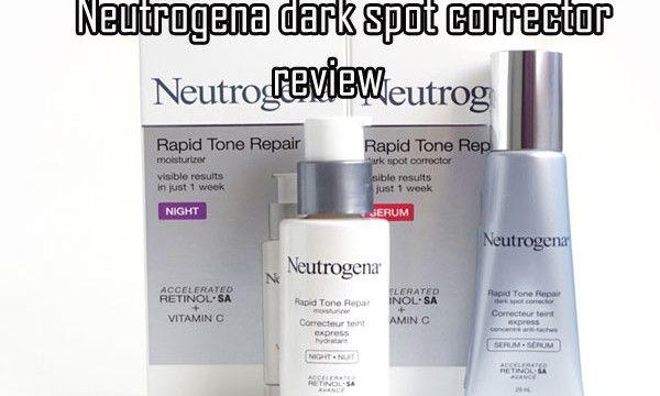neutrogena dark spot corrector